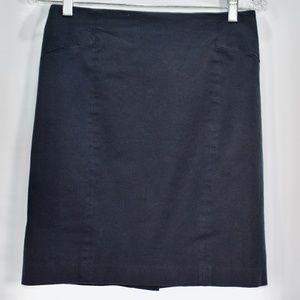 Banana Republic Navy Blue Pencil Skirt 6